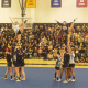 The Malden High Cheerleaders performing during the pep rally.