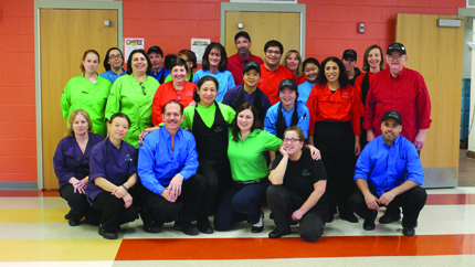 Group photo of the Malden High School lunch team.