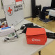 Some equipment used in the Red Cross' recent blood drive at Malden High School.