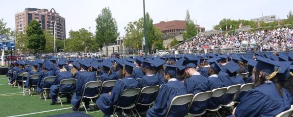Seniors waiting to receive their diplomas. Photo by Tenzin Dorjee.