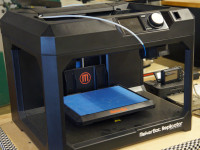 A 3-D printer in the makerspace workshop. Photo by Meghan Yip.