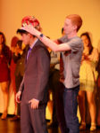 Senior Richard Melgar being crowned as Mr. MHS by former Mr. MHS 2015, Josh Cronin. Photo by Ryan Hames.