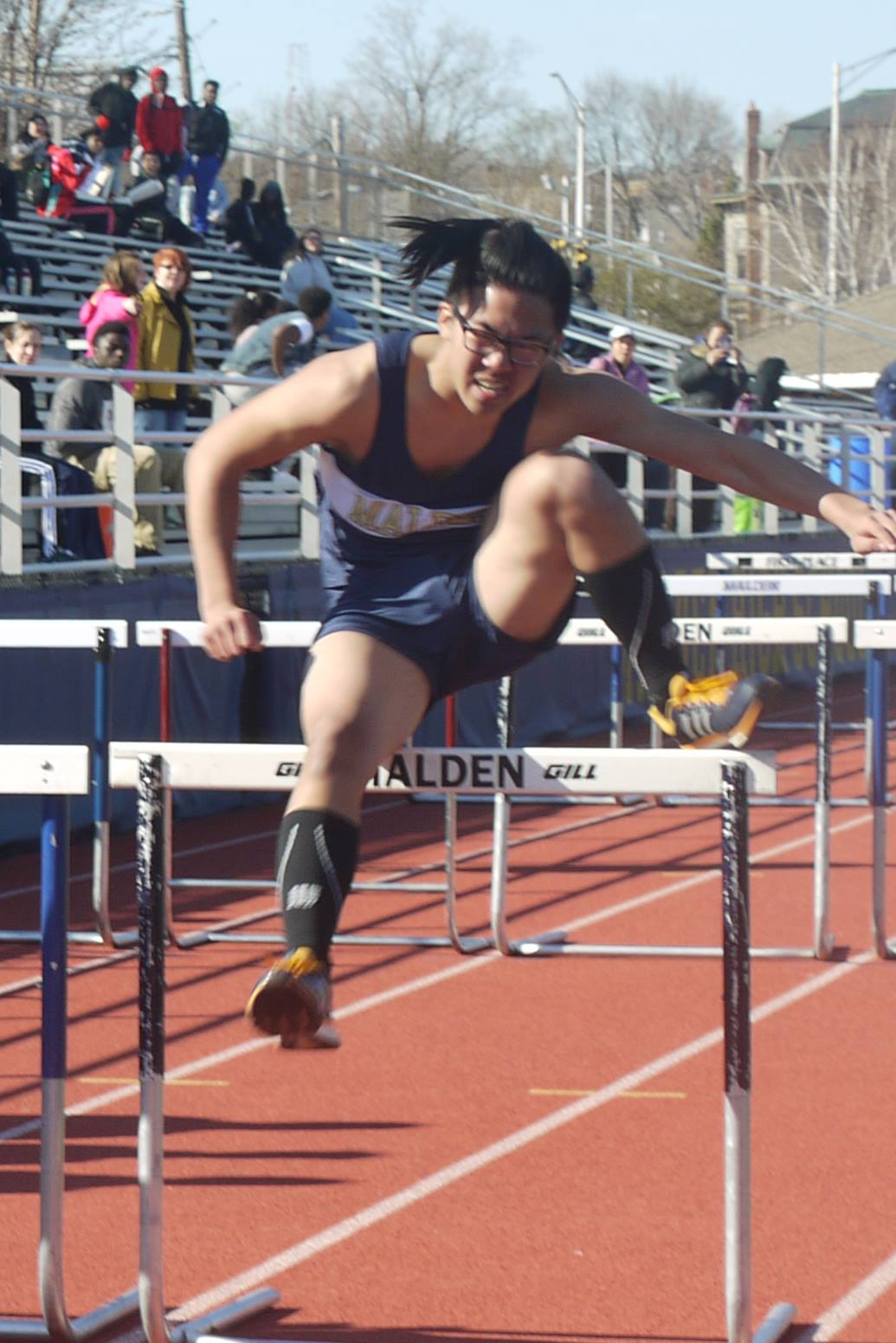 Freshman hurdler. Photo taken by Alysha McDevitt.