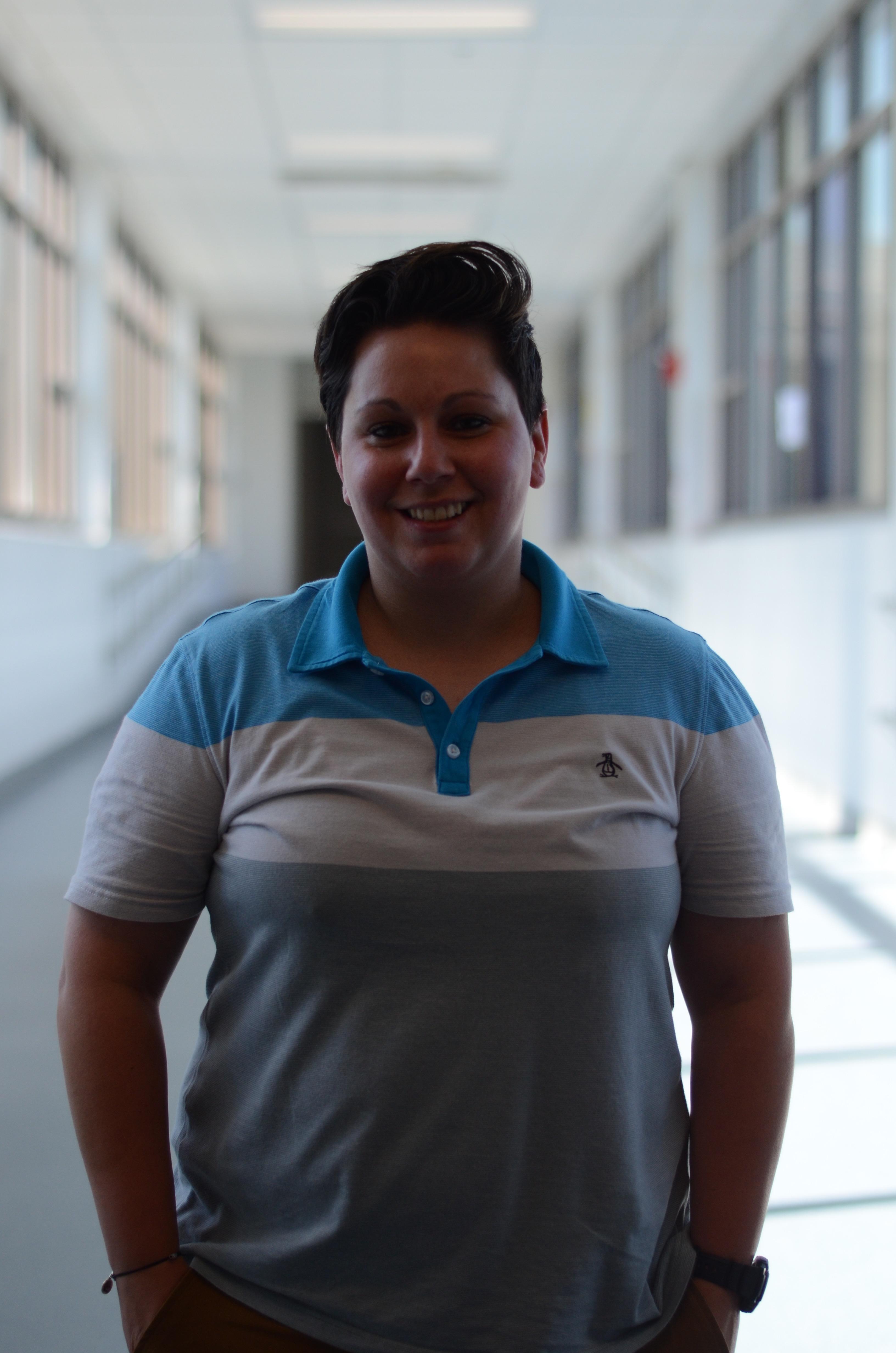 New teacher, Kristy Hardy. Photo taken by Ryan Hames.