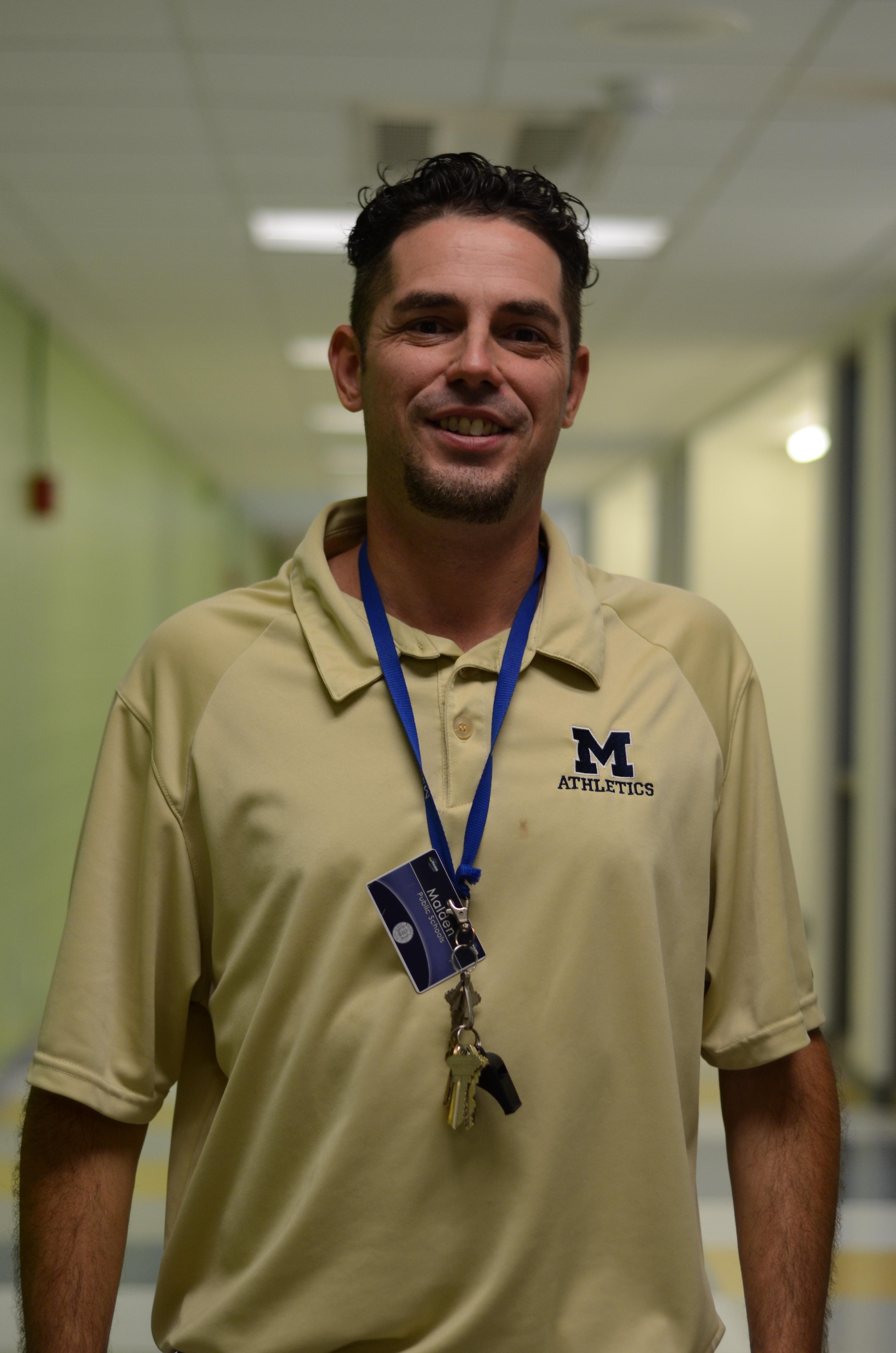 New MHS gym teacher  Mark Gagnon. Photo by Ryan Hames.