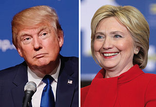 President Donald Trump and former candidate Hillary Clinton. Image courtesy of WikiMedia.